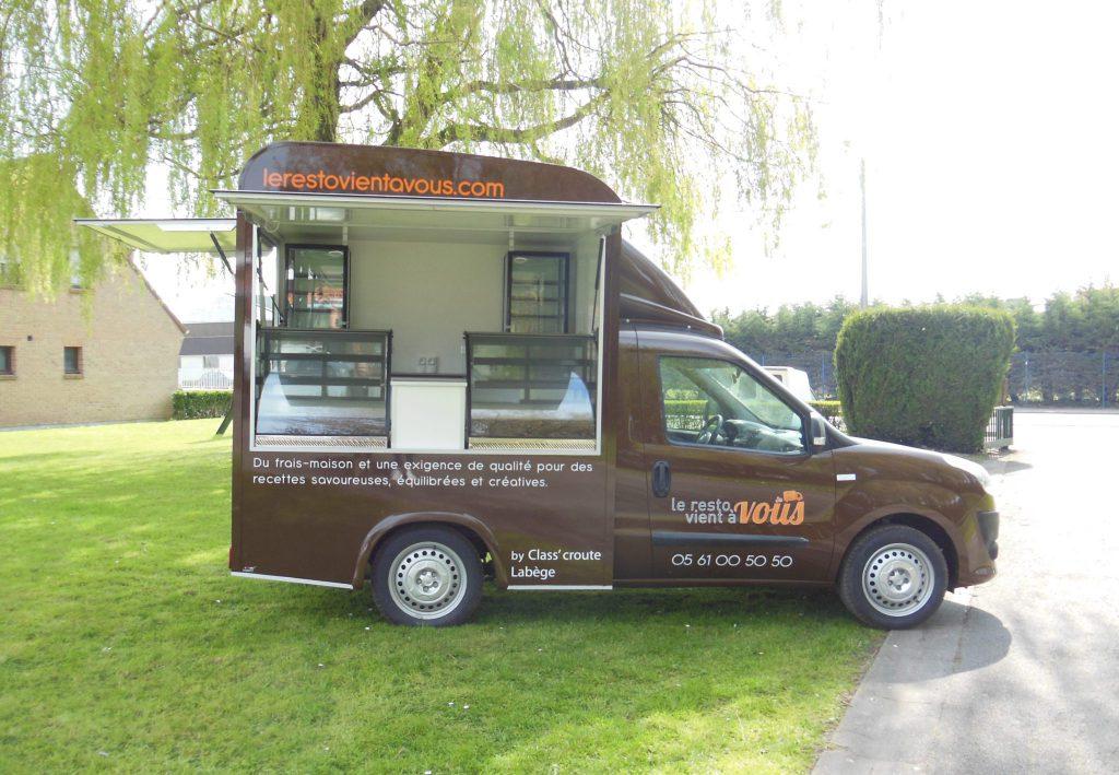 concept doblo food truck snack hedimag fiat doblo food truck