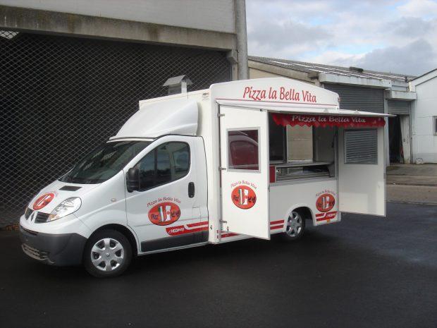 Pizza et p tes hedimag fabricant de food trucks et for Camion americain interieur