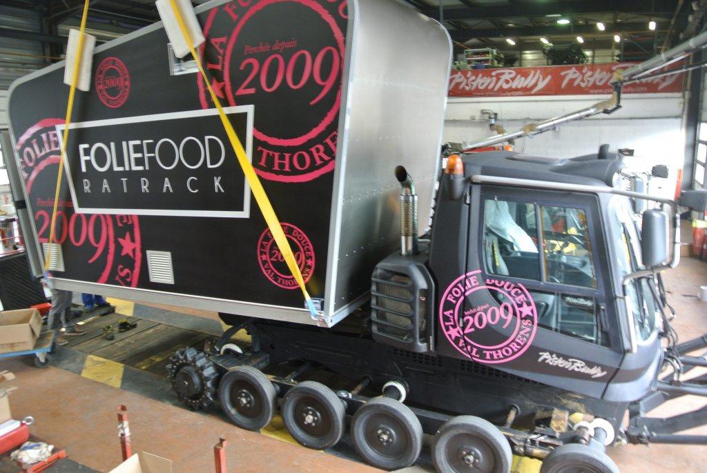 food truck dameuse cellule snow taille L dameuse déneigeuse ratrack folies douces