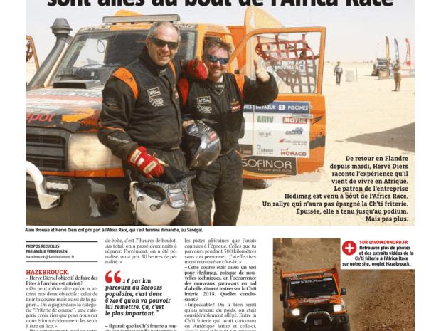 Hervé Diers et sa Ch'ti Friterie sont allés au bout de l'Africa Race