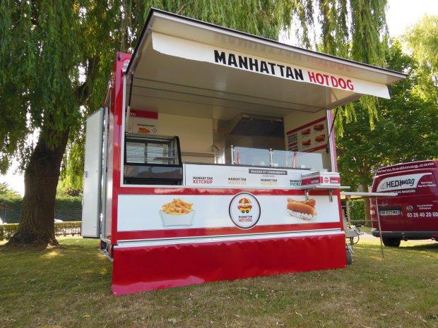 Manhattan hot dog version nomade