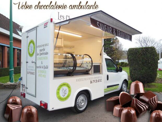 Chocolaterie ambulante, le food truck « chocolat »