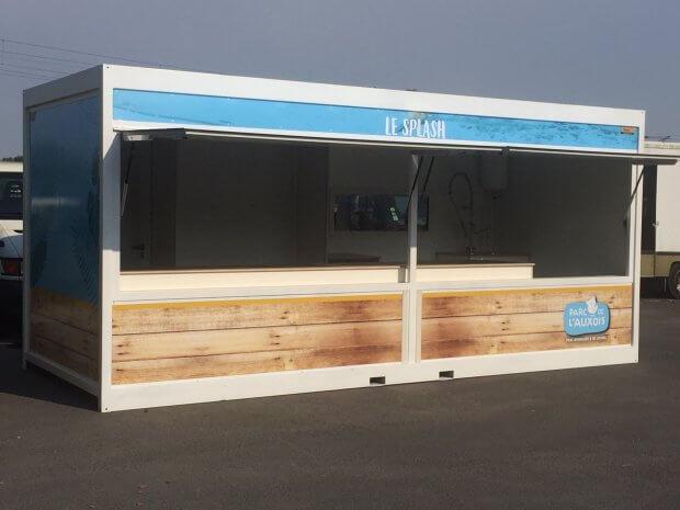 Kiosque-container snack pour le Parc de l'Auxois