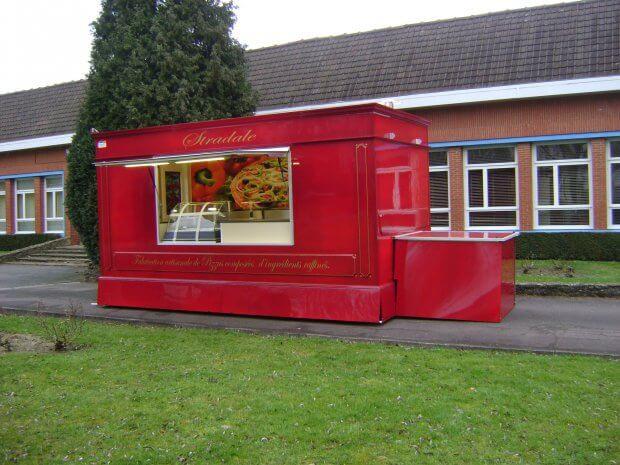 Remorque-kiosque pizza victorien – Ref R035