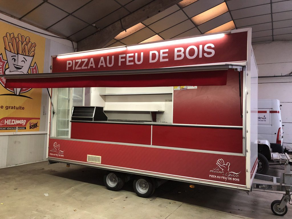 Remorque pizza occasion re450 - Hedimag fabricant de commerce mobile