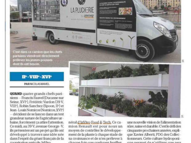 [Le Parisien] Le GROW TRUCK : Un camion pour livrer les chefs en jeunes pousses