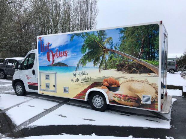 Un food truck paradisiaque… sous la neige!