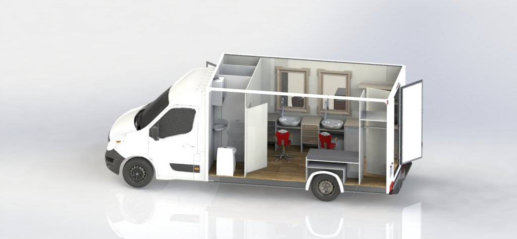 camion coiffure hedimag barber truck