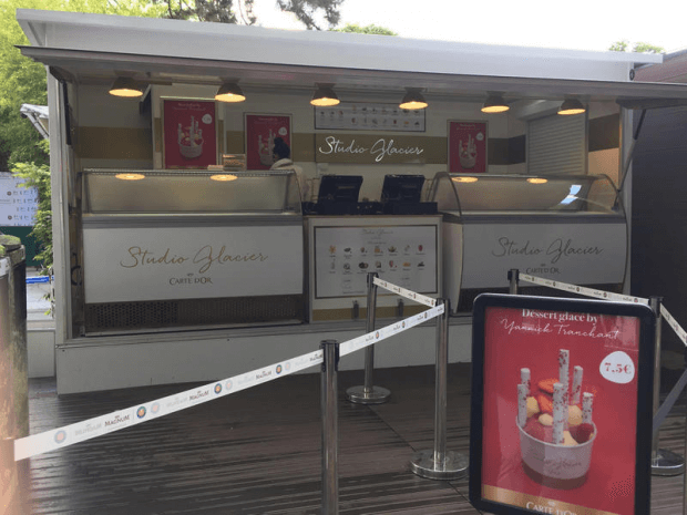 Remorque glaces à Rolland Garros