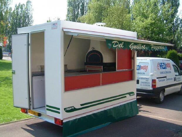 Remorque 320 Pizza Feu de bois – Ref R039