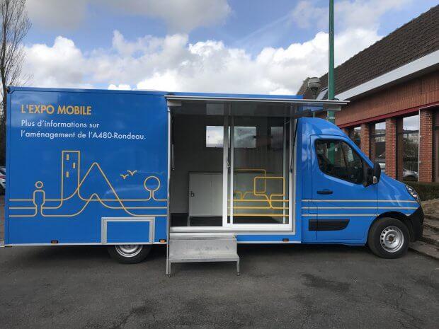 Camion bureau : présentation vidéo de projets
