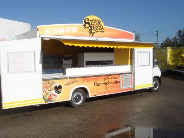 Camion Pizza – four gaz – Ref C080