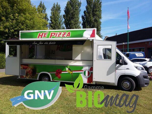 Camion Pizza GNV écologique
