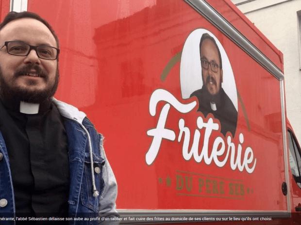 Un camion friterie Hedimag réalisé pour un curé