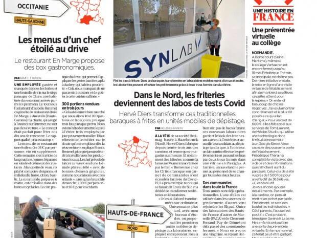 Le Parisien Article sur les véhicules de dépistage