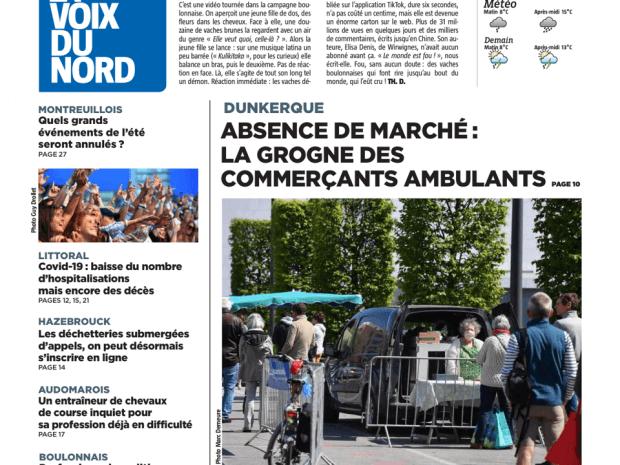 Les marchés fermés à Dunkerque – Article Voix du Nord
