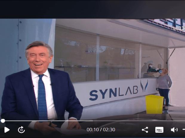 JT de TF1 Les véhicules laboratoires de dépistage Covid