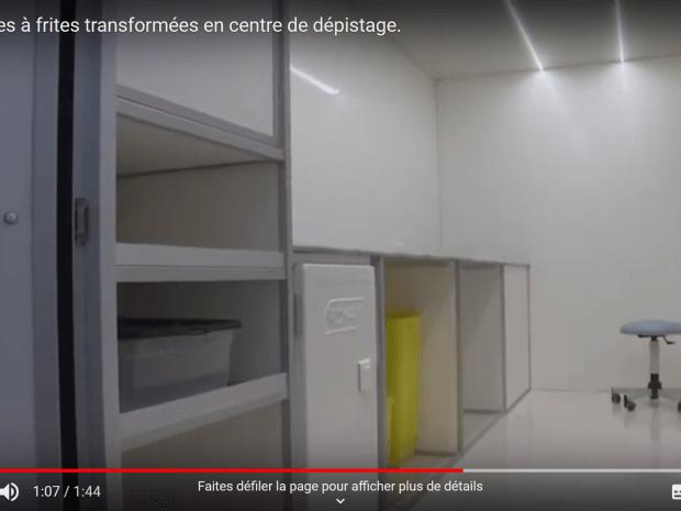 Des baraques à frites transformées en centres de dépistage