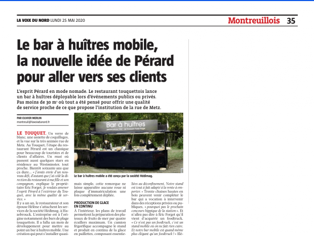 Le restaurant Pérard devient mobile