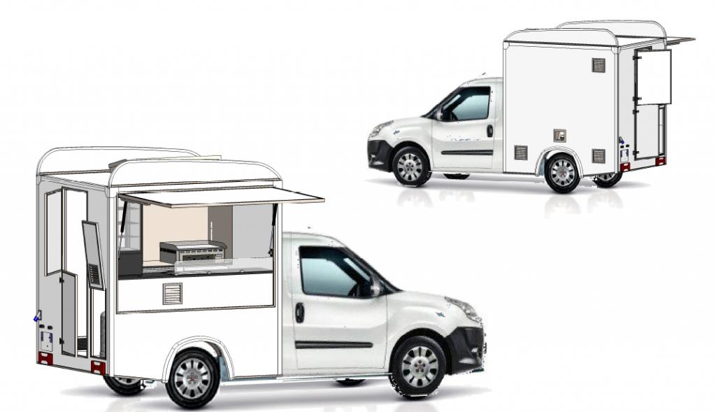 concept doblo food truck occasion