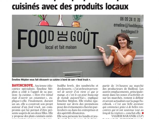 Food truck cuisine maison Food de Goût