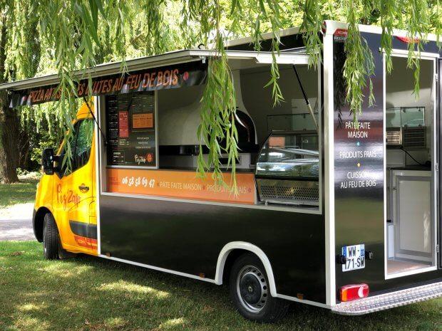 Camion pizza feu de bois Piz'ZAP