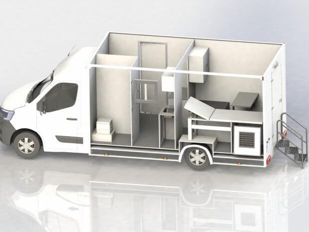 Camion de vaccination et cabinet médical mobile