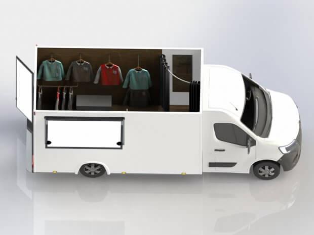 Camion fashion truck vêtements