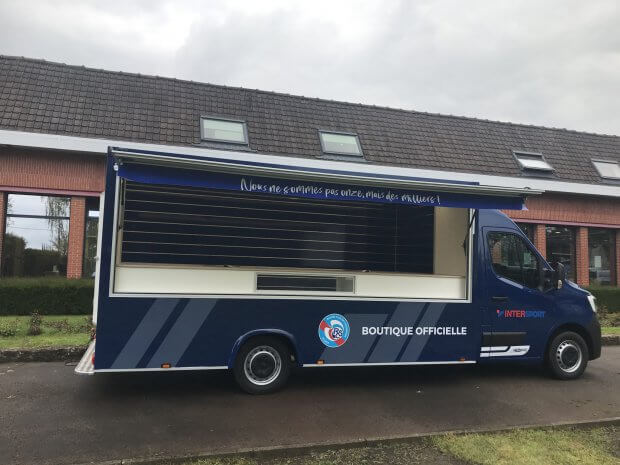 Camion magasin goodies pour le RC Strasbourg