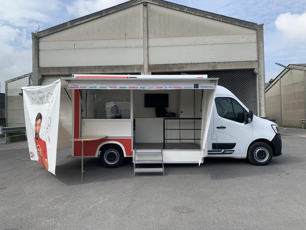 camion évènementiel Nord Littoral Hedimag