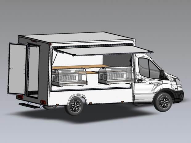 Camion de marché traiteur access