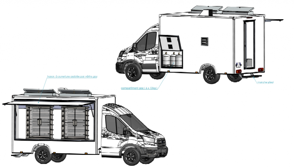 Camion rotisserie access Hedimag 2